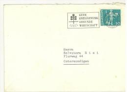 STORIA POSTALE - ANNO 1951 - ANNULLO PUBBLICITARIO  - GUTE ENTLOHNUNG GESUNDE WIRTSCHAFT - SALVATORE RISI - HELVETIA - - 6. 1946-.. Republic
