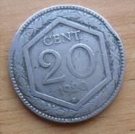 20  CENTESIMI ESAGONO DEL 1920 DEL REGNO D'ITALIA VITTORIO EMANUELE III° - RARA - - 1861-1946 : Royaume