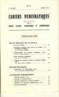 BROCHURE CAHIERS NUMISMATIQUES # S.E.N.A. BULLETIN MARS 1965 # N° 4 - French