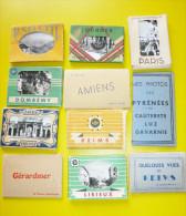 11 Carnets Différents Sites De France - Cartes Postales
