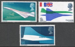 Great Britain. 1969 First Flight Of Concorde. MH Complete Set. SG 784-786 - 1952-.... (Elizabeth II)