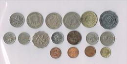25 Rupiah,Hong-Kong,Singapore,Malaysia,Indonesia...  X 17 !!!!ensemble De Pièces De Monnaie-set Of Coins - Monnaies