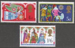 Great Britain. 1969 Christmas. MH Complete Set. SG 812-814 - 1952-.... (Elizabeth II)