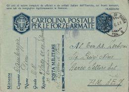 FRANCHIGIA WWII POSTA MILITARE 1941 SAN DIDERO X AEROPORTO A.E. 7 - Militärpost (MP)