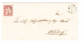 Heimat GR MESOCCO 20.6.1862 Fingerhutstempel Mit 15Rp. Strubel Auf Brief Hülle Nach Altdorf - 1854-1862 Helvetia (Non-dentelés)