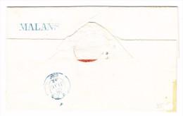 Heimat GR MONS Balkenstempel Blau Auf Brief Hülle 27.2.1852 ? - 1862-1881 Sitzende Helvetia (gezähnt)