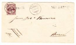 Heimat GR NEUKIRCH Balkenstempel 24.8.1886 Versam Mit 5Rp. WZ  Auf Brief - 1882-1906 Armoiries, Helvetia Debout & UPU