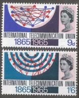Great Britain. 1965 ITU Centenary. MH Complete Set SG 683-684 - 1952-.... (Elizabeth II)
