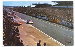 CPSM Le Mans  Circuit Des 24 Heures Démarrage Des Voitures - Le Mans