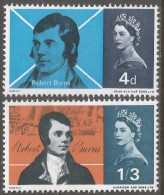 Great Britain. 1966 Burns Commemoration. MH Complete Set SG 685-686 - 1952-.... (Elizabeth II)
