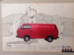ADVERTISING PUBBLICITA´  VOLKSWAGEN TRANSPORTER CAPACI DI TUTTO  -- 1989 -  OTTIMO - Werbung