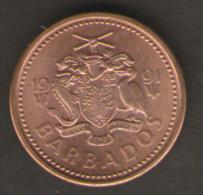 BARBADOS 1 CENT 1991 - Barbados