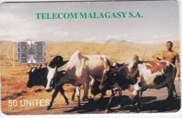 Madagascar,  MDG-07, Zebus (reverse A), 2 Scans    White Control Number Below The Line Left Side - Madagaskar