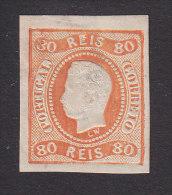 Portugal, Scott #30, Mint Hinged, King Luiz, Issued 1868 - Ungebraucht
