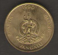 VANUATU SERIE 3 MONETE 1 2 5 VATU 1990 - Vanuatu