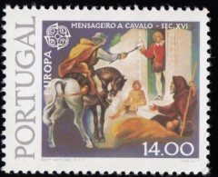 PORTUGAL - Scott #1423 History Of The Mail System And Telegraph System / Mint NH Stamp - Unused Stamps