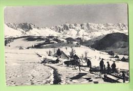VILLARD De LANS - Magnifique Plan Avec Chasseurs Alpins Sur Plateau Du VERCORS  - 2 Scans - Villard-de-Lans