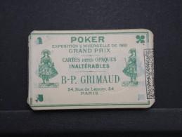 CARTES A JOUER - Jeu De Poker Grimaud N°90 - Début De Siécle Non Ouvert Avec Bande Des Impots - Rare Ainsi - Lot P14281 - Jeux De Société