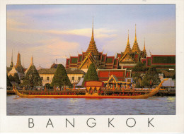 BANGKOK   THE ROYAL  BARGE CHANTING CEREMONY        MAXI-CARD      (VIAGGIATA) - Tailandia