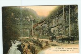 VILLARD De LANS - Superbe Plan Animé De L'ancienne Route De Sassenage - Colorisée - TBE -  2 Scans - Villard-de-Lans