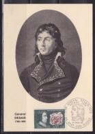 = Général Desaix Carte Postale 1er Jour 63 Ayat Sur Sioule 23.3.68 N°1551 Portrait Champ De Bataille - 1960-69
