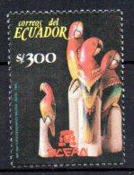 EQUATEUR - ECUADOR - PERROQUETS SCULPTES - SCULPTED PARROTS - Oblitéré - 1990 - - Ecuador
