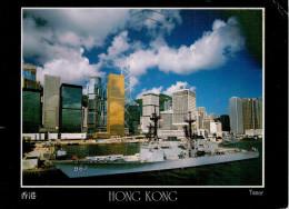 HONG KONG    HMS  TAMAR  AND  CENTRAL        MAXI-CARD      (VIAGGIATA) - Cina (Hong Kong)