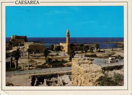 CAESAREA   EXCAVATIONS AT THE ANCIENT  TOWN        MAXI-CARD      (VIAGGIATA) - Palestina