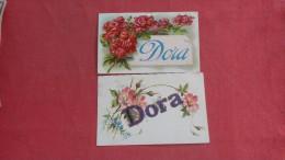 Dora    2 Card Lot   2124 - Firstnames