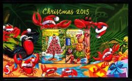 Christmas Island MNH 2015 Souvenir Sheet Of 2 Christmas Tree Of Crabs - Noël