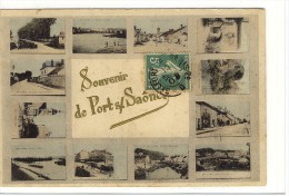 Carte Postale Ancienne Fantaisie Port Sur Saône - Souvenir - Multivues - France