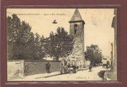 PUY SAINTE REPARADE (13) - EGLISE ET RUE BOURGADE - Autres Communes