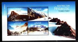 Australian Antarctic Territory MNH 2013 Souvenir Sheet Of 4 Mountains - Unused Stamps