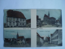 Deutschland // Rieschweiler (pfalz) Gruss Aus // Backerei - Kirche - Gasthaus V.Jak Bayer // 1918 TOPKARTE - Unclassified