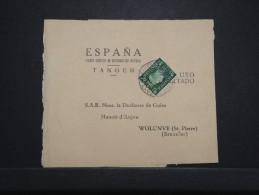 MAROC ANGLAIS - Bande Journal De Tanger Pour La Duchesse De Guise En Belgique 1939  - RARE - Même Archive - Lot P14291 - Morocco Agencies / Tangier (...-1958)