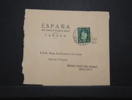 MAROC ANGLAIS - Bande Journal De Tanger Pour La Duchesse De Guise En Belgique 1939  - RARE - Même Archive - Lot P14292 - Morocco Agencies / Tangier (...-1958)