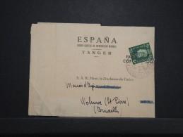 MAROC ANGLAIS - Bande Journal De Tanger Pour La Duchesse De Guise En Belgique 1939  - RARE - Même Archive - Lot P14293 - Morocco Agencies / Tangier (...-1958)