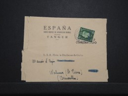 MAROC ANGLAIS - Bande Journal De Tanger Pour La Duchesse De Guise En Belgique 1939  - RARE - Même Archive - Lot P14294 - Morocco Agencies / Tangier (...-1958)