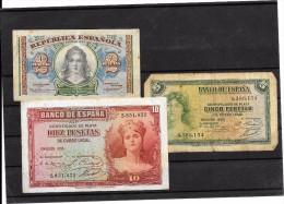 BILLETS DE BANQUE( Schilling, Francs, Pesetas ) Lot De 11 Billets Plusieurs Valeurs - Espagne