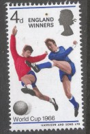 Great Britain. 1966 World Cup Football Championship. 4d MNH SG 700 - 1952-.... (Elizabeth II)
