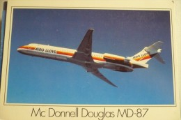 AIRLINES ISSUE / CARTE COMPAGNIE     AERO LLYOD    MD 87 - 1946-....: Moderne