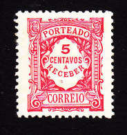 Portugal, Scott #J26, Mint Hinged, Postage Due, Issued 1915 - Unused Stamps