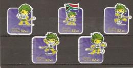 Afrique Du Sud RSA - FIFA 2007 Football - 5 Timbres - 2010 - Afrique Du Sud (1961-...)