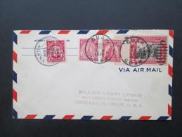 Rarität!! USA / Guam Guard Nr. 6 MiF Mail / US. RAR!! 1930 Guam Service AGANA. Air Mail. Altes Auktionslos. Auslandspost - Guam