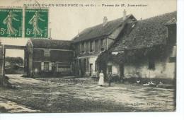 """91-MAROLLES-EN-HUREPOIX-Une Vue De La Cour De La Ferme De """"M.JUMENTIER""""- Animé - France"""
