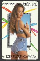 Hungary,   Sexy  Lottery  Girl  In  Hot Pants,  1992. - Calendari