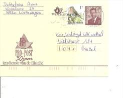 Belgique ( EP + Affranchissement Complémentaire De 1998 De Deinze  Vers Bruxelles à Voir) - Stamped Stationery