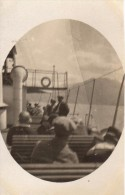 Photo Originale Bateaux - Sur Le Pont D'un Bateau Dans Les Années 20 -