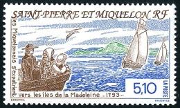 ST-PIERRE ET MIQUELON 1993 - Yv. 579 * TB  Faciale= 0,78 EUR - Exode Vers Les îles De La Madeleine ..Réf.SPM10903 - Neufs