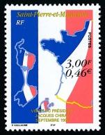 ST-PIERRE ET MIQUELON 1999 - Yv. 703 **   Faciale= 0,46 EUR - Visite Du Président CHIRAC ..Réf.SPM10964 - Neufs